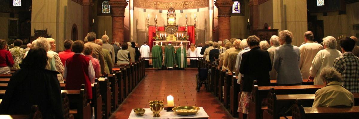 Gottesdienst in einer Kirche